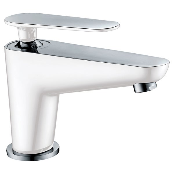 Shop Dawn Chrome White Deck Mount Single Lever Lavatory