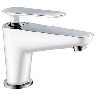 Dawn Chrome/ White Deck Mount Single-lever Lavatory Faucet