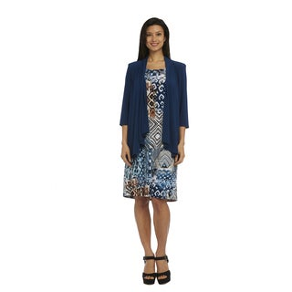R&M Richards Print Jacket Dress