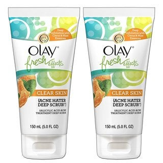 Olay Fresh Effects Clear Skin Acne Hater Deep Scrub Salicylic Acid 5-ounce Acne Treatment