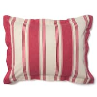 Canon Cotton Red Stripe Sham