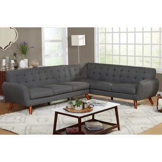 simple living livingston midcentury tufted lshaped sectional sofa