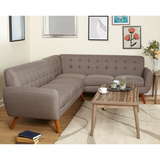 Simple Living Livingston Mid-Century Tufted L-shaped Sectional Sofa (2 options available)