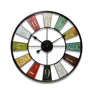 Infinity Instruments Kaleidoscope, 24 inch Round Wall Clock|https://ak1.ostkcdn.com/images/products/14357218/P20932828.jpg?impolicy=medium