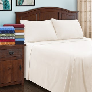 Superior All Season Brushed Flannel Trellis Pillowcase Set (Set of 2)