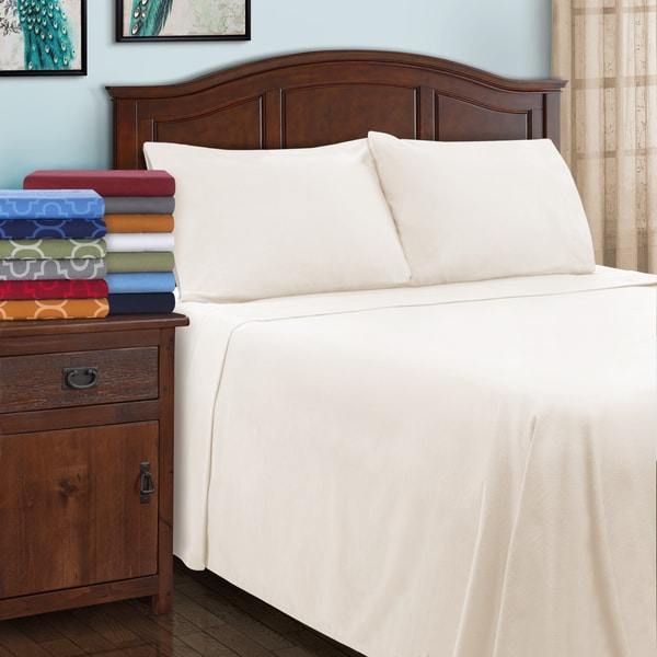 Superior All Season Brushed Flannel Trellis Pillowcase Set (Set of 2). Opens flyout.