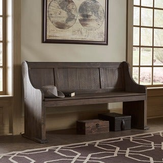 Rowyn Wood 62 Inch Wire Brushed Entryway Dining Bench by iNSPIRE Q Artisan