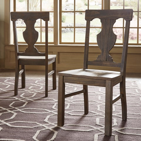 Rowyn Wood Dining Fiddle Back Dining Chairs (Set of 2) by iNSPIRE Q Artisan