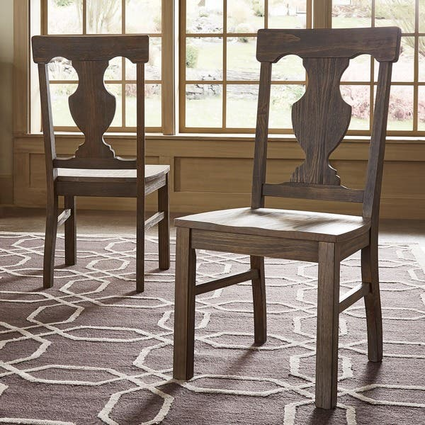 Shop Rowyn Wood Dining Fiddle Back Chairs Set Of 2