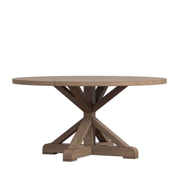 Benchwright X Base 48 Round Dining Set By Inspire Q Artisan On Sale Overstock 14357274