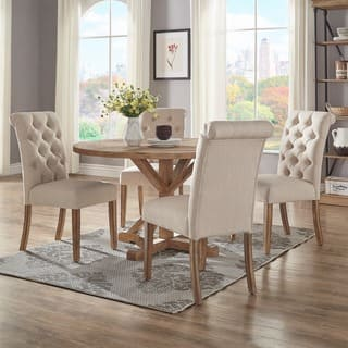 dining room table set. Benchwright Rustic X Base 48 Inch Round Dining Table Set By INSPIRE Q  Artisan Kitchen Room Sets For Less Overstock