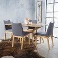 Dimitri 5-piece Wood Large Rectangular Mid-Century Dining Set with Curved Legs by Christopher Knight Home