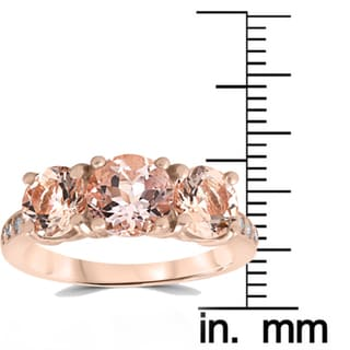 G-H,I2-I3 3 Diamond Promise Ring in 10K Pink Gold Size-3.5 1//20 cttw,