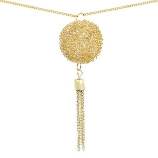 Liliana Bella Goldplated Round Handmade Tassel Pendant