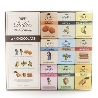 igourmet Dolfin Belgium Chocolate Bar Gift Box - 27 Chocolates