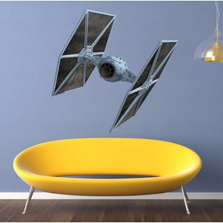 Full Color Tie Fighter Full Color Decal, Star Wars Full color sticker, wall art Sticker Decal size 3