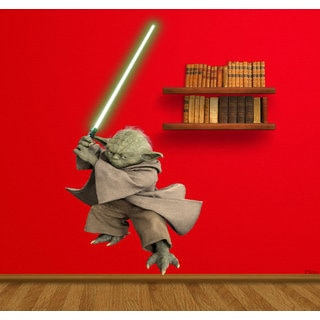 Full Color Yoda Full Color Decal, Star Wars Full color sticker, wall art, wall Sticker Decal size 33