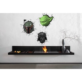 Full Color Yoda Vader 3d Full Color Decal, Star Wars 3d Full color sticker, wall art Sticker Decal s