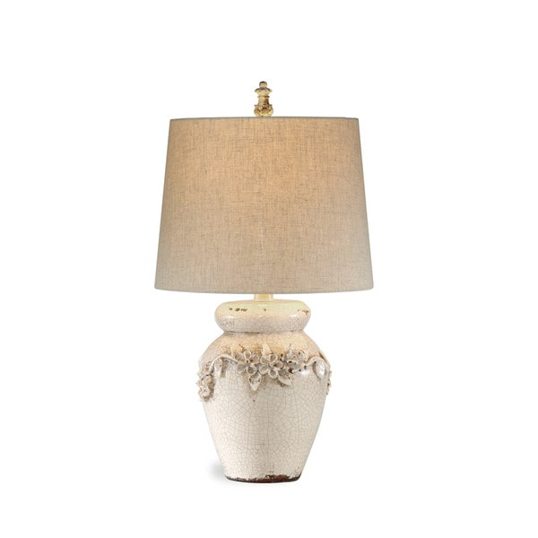 Eleanore 25-inch Off-white Ceramic Table Lamp