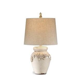 Eleanore 25-inch Off-white Ceramic Table Lamp