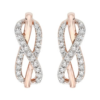 10K Two-Tone Gold 1/5ct TDW Diamond Infinity Earrings (J-K,I1-I2)