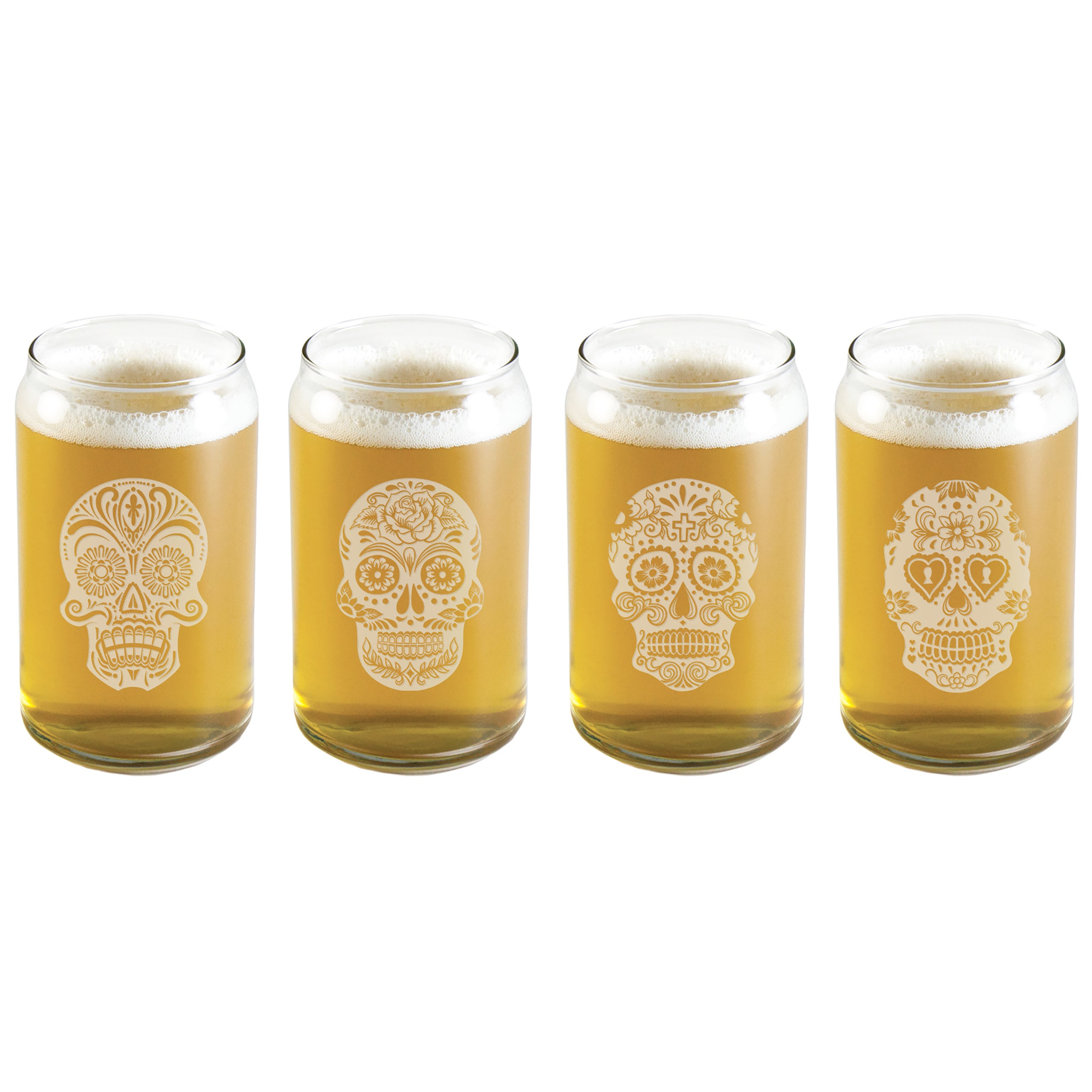 Susquehanna Glass Dia De Los Muertos Assortment Glass Bee...