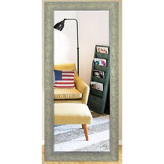 US Made Maclaren Pewter Beveled Full Body Mirror