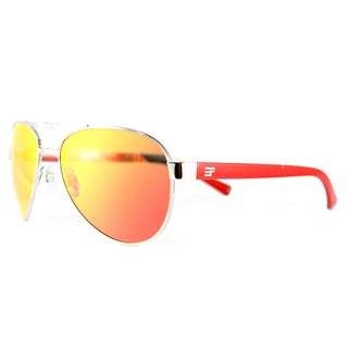 EYEFolds Pilot Foldable Silver Metal Fashion Sunglasses Red Mirror Lens