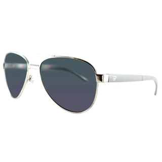 EYEFolds Pilot Foldable Silver Metal Fashion Sunglasses Black Lens