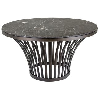 Safavieh Couture High Line Collection Blake Electroplated Stainless Steel Marble Top Table