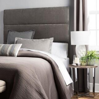 Humble + Haute Hereford King Size Grey Velvet Upholstered Headboard
