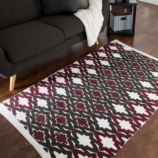 Windsor Home Chindi Trellis Accent Rug - 3.5' x 5'