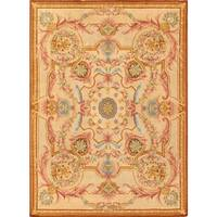 Pasargad Savonnerie Collection Hand-knotted Ivory Lamb's Wool Area Rug (8' 6 x 11' 11)