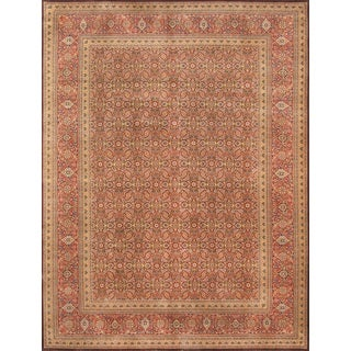 Pasargad Tabriz Collection Hand-knotted Brown/Rust Lamb's Wool Rug ( 9' 2 x 12' 0)