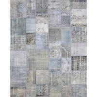 Pasargad Vintage Turkish Patchwork Hand-knotted Lamb's Wool Area Rug (8'0 x 10'2)