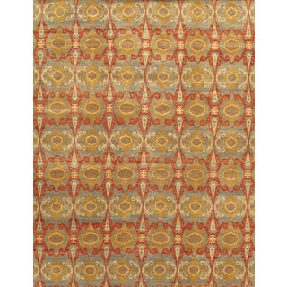 Pasargad Ikat Collection Hand-knotted Lamb's Wool Rug (9'2 x 12'0)
