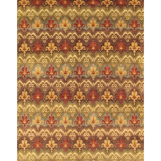 Pasargad Ikat Collection Mulit/Brown Hand-knotted Wool Rug (12'0 x 14'11)