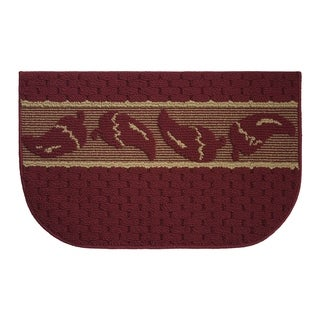 "Structures Salsa Chili Textured Loop Wedge Kitchen Rug (18 x 30 in.) - 1'5"" x 2'5"""