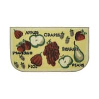 "Structures Tossed Fruits Textured Loop Wedge Kitchen Rug - 1'5"" x 2'5"""