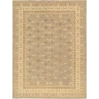 Pasargad Khotan Collection Light Grey/Beige Handknotted Wool Area Rug (8'3 x 10'3)