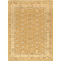 Pasargad Khotan Collection Hand-Knotted L.Gold/Beige Lamb's Wool Area Rug ( 8'5 x 10'2)