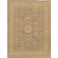 Pasargad Khotan Grey and Beige Wool Hand-Knotted Area Rug (10'2x14'1)