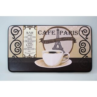 """Chef Gear Cafe Paris Faux Leather Anti-Fatigue Cushioned Chef Mat (1'5"""" x 2'5"""")"""
