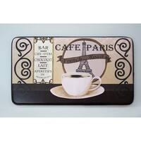 """Chef Gear Cafe Paris Faux Leather Anti-Fatigue Cushioned Chef Mat - café paris - 1'5"""" x 2'5"""""""
