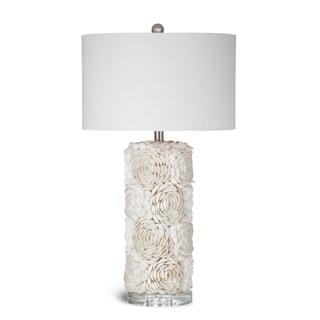 Bassett Cream Seashell Floral Collage Table Lamp