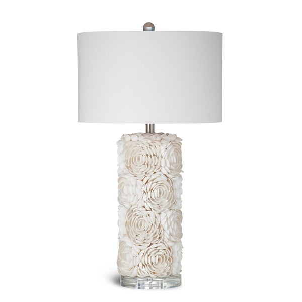Bassett Cream Seashell Floral Collage Table Lamp