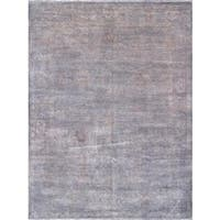 Pasargad Overdye Collection Grey Lamb's Wool Hand-knotted Rug (9'11 x 13' 8)