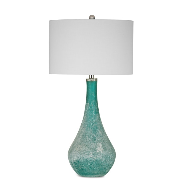 Shop Maggiore 31 Inch Blue Glass Table Lamp Free Shipping Today