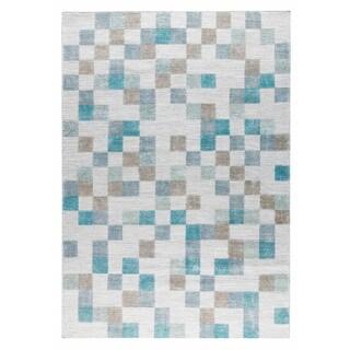 M.A.Trading Hand Woven Kista Aqua (5'x8')