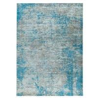 M.A.Trading Hand Woven Dallas Aqua/Blue (India) - 5'x8'